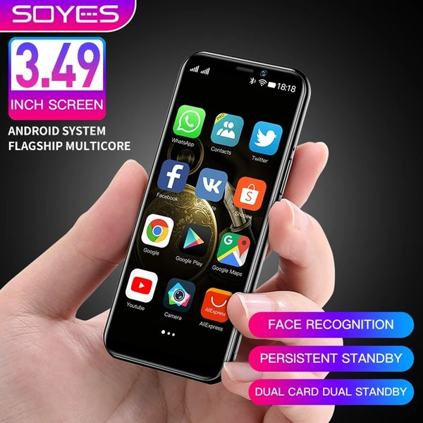 top popular Original Soyes S10-H Cell Phones Android 9.0 4G LTE Smartphone 3.5'' Super Mini Telefone 3GB 64GB High-end Unlocked Face ID Cellphone PK S9 K15 2021