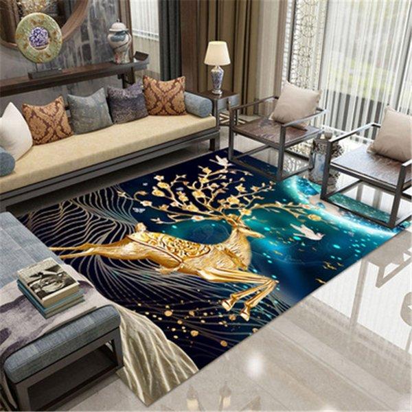 Eovna Modern 3D Printing Rectangle Carpet Hallway Doormat Anti-Slip Carpets Kids Room Absorb Water Kitchen Mat Rug