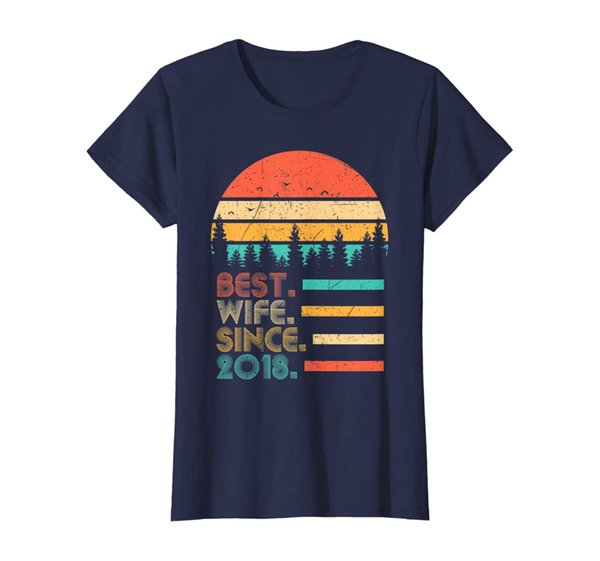Womens 1st Wedding Anniversary Gifts Best Wife Since 2018 T-Shirt