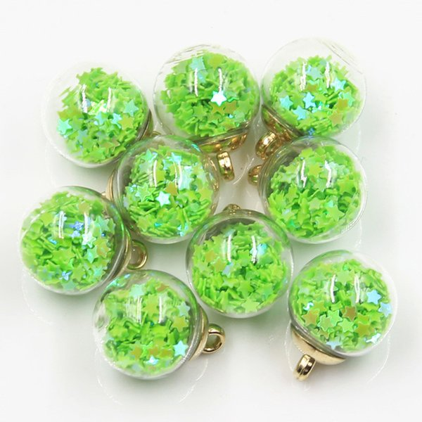 ewelry & Accessories 20pcs Charms Star Sequins Transparent Glass Ball 16mm Pendants Crafts Making Findings Handmade Jewelry DIY for Earri...