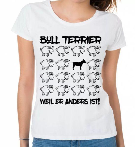 Bull Terrier Ladies T-Shirt Black Sheep by siviwonder