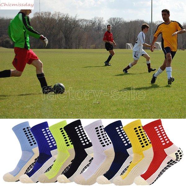 Men's Anti Slip Football Socks Athletic Long Socks Absorbent Sports Grip Socks For Basketball Soccer