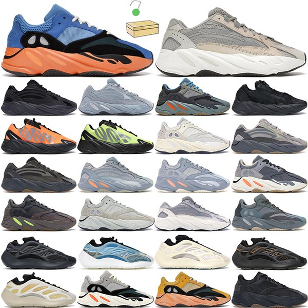 2021 kanye 700 men women running shoes trainers Safflower Azael Alvah Bright Blue Tephra Salt Geode Utility Black Phosphor Mauve Grey Teal outdoor sports sneaker