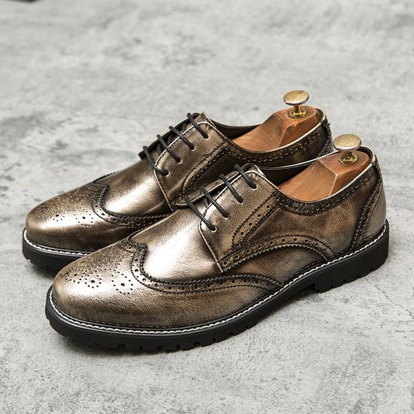 Brand Mens Leather Shoes Man Dress Fashion Business Office Formal Shoes Men Big Size Wedding Party Comfortable Oxford Man Shoes