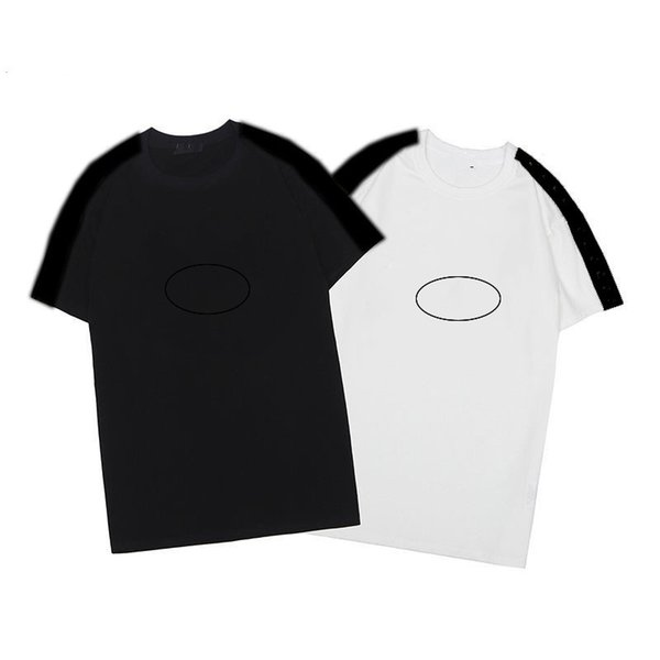 top popular High quality mens Tees 2021 luxury embroidery black and white t shirt fashion personalized Design 4 styles Short Sleeve size s-2xl 2021