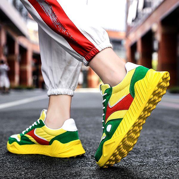 Spring Yellow Green Mens Casual Shoes Fashion Comfort Mens Designer Sneakers Men Non-slip Canvas Sneakers Zapatillas Hombre 2021