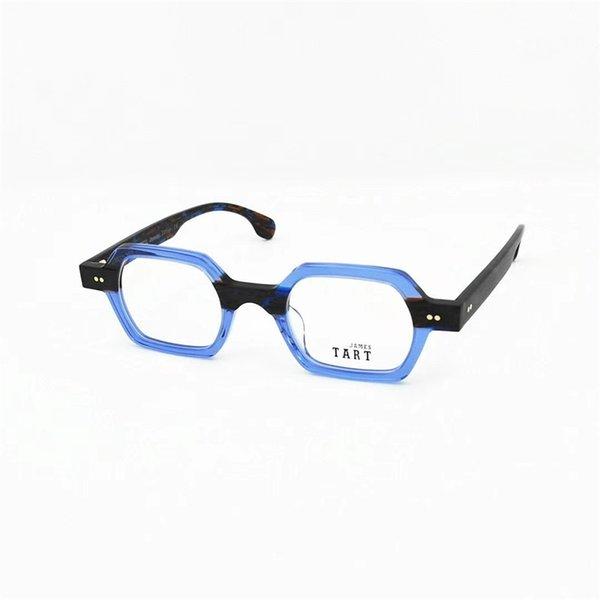 Lente transparente de marco azul
