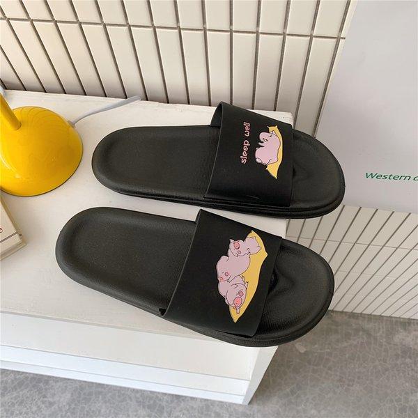 2021 Shower Sandal Slippers Quick Drying Bathroom Slippers Lovely Catroon House Men Slippers Slide Outdoor Shoes For Women