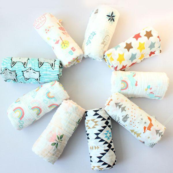 best selling Infant Muslin Blanket Horse Flamingo Animal Baby Swaddle Newborn Bathroom Towels Robes Swadding Swaddles Ocean freight wmq969