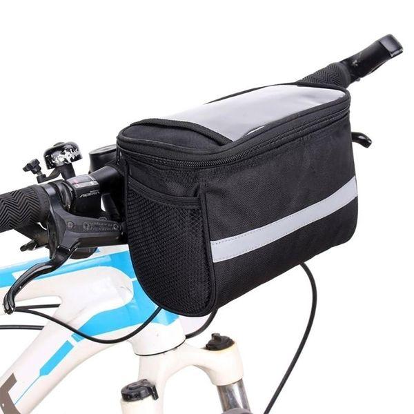 best selling Large Capacity Waterproof Bicycle Front Handlebar Storage Bag Cycling Pouch Handlebar Bag