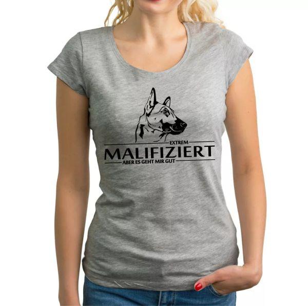 SALE Malinois infected Dog Mali Love Dog Motif Dog Ladies T-SHIRT Funny S