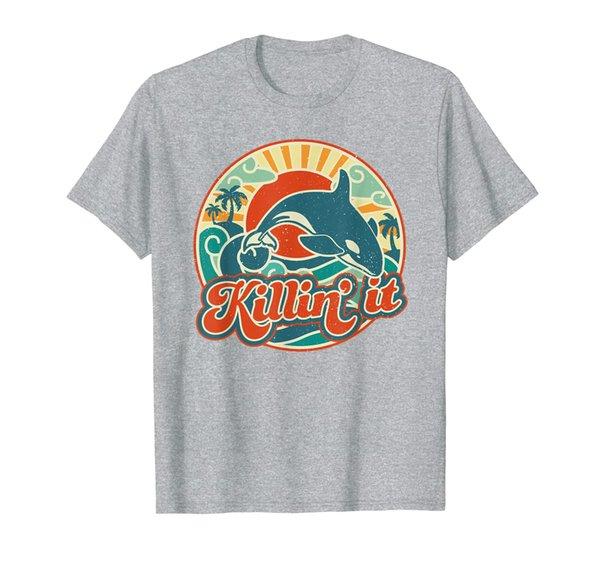 Killin It Orca Killer Whale Retro 60s Summer T-Shirt