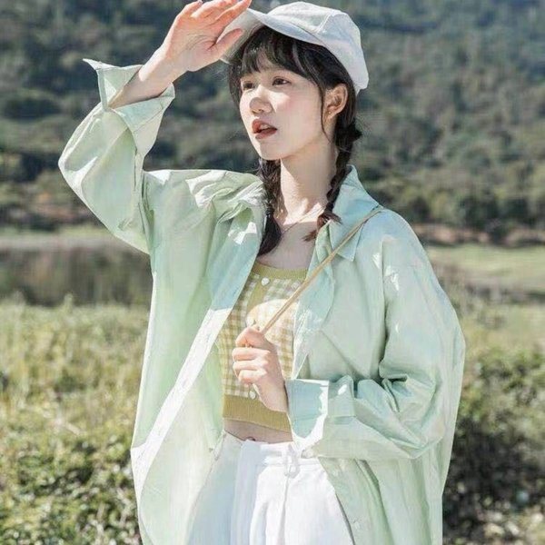 Korean Fashion Spring 2021 Womens Clothing Elegant Blouses and Shirts Solid Shirt for Women Long Sleeve Top Beach Cover Up Womens Clothing Dresses Skirts Womens Blouses & Shirts Womens Hoodies & Sweatshirts Womens Jeans Womens Jumpsuits & Rompers Womens Outerwear & Coats Womens Sweaters