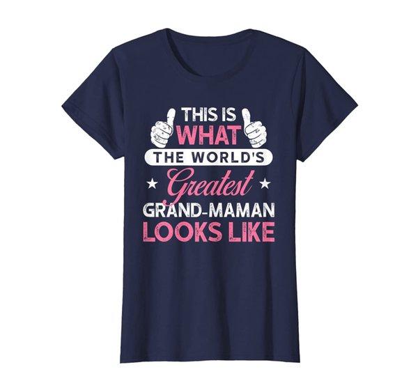 Womens Grand-Maman Shirt Gift: World's Greatest Grand-Maman T-Shirt