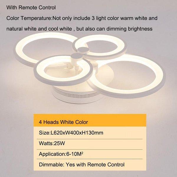 4 cabezas modelo antiguo color blanco regulable