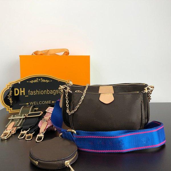 top popular Women Bags Genuine Leather Handbags High Quanlity Purses Lady Tote Bag Coin Purse Three Item Mini Pochette 3pcs 2021