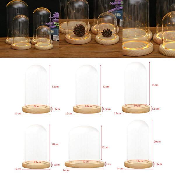 top popular Decorative Transparent Glass Bell-shaped Bell-shaped Jar Display Cabinet Hand-made Glass Bell-shaped 2021