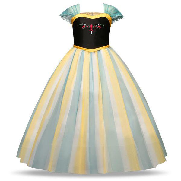 top popular Girls Cosplay Dresses Cartoon Party Show Peform Sleeveless Zipper Dress Kids Girls Princess Mesh Costume 2-7T 04 2021