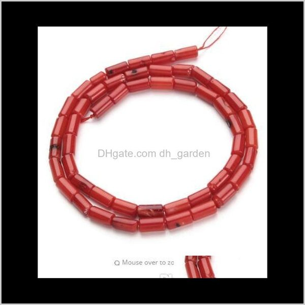best selling Shell Bone 1Strandlot 4X8Mm Red Natural Column Coral Loose Beads For Diy Bracelet Necklace Jewelry Making Materials F2791 Khyv2 Wvd3R