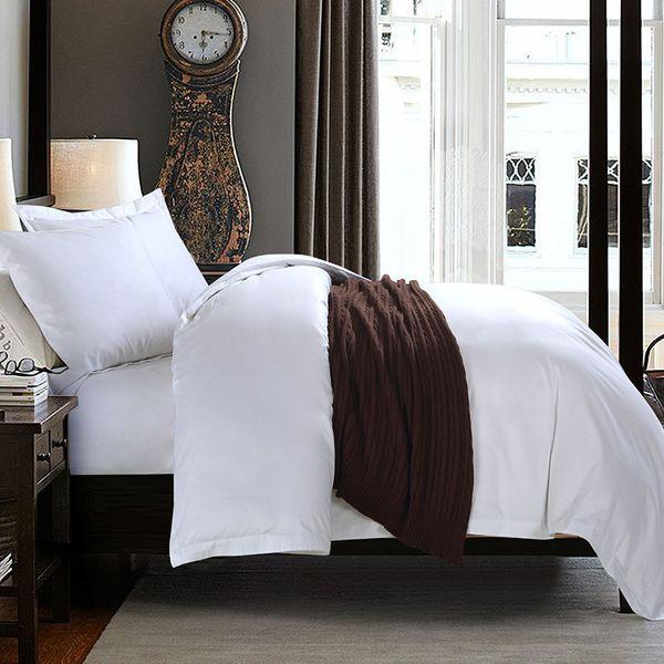 top popular Five-Star Hotel Jet Satin Cotton Four-Piece Set White Cloth Product Hotel B & B Three-Piece Set Single-Piece Processing Customization 2021