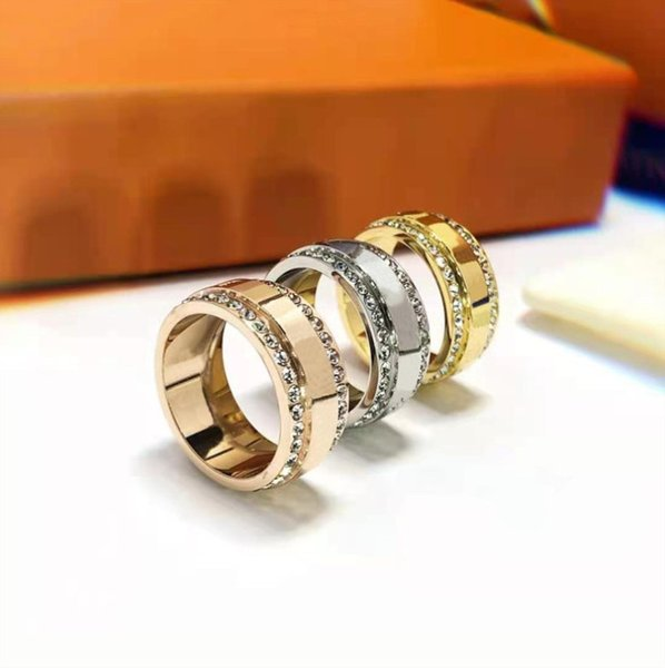 best selling Stone Ring for Man Woman Unisex Fashion Rings Jewelry Gifts Accessories 3 Color With Box