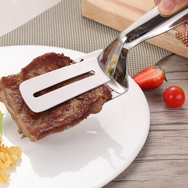 Stainless Steel Food Tongs Barbecue Clip Frying Steak Fried Bread Egg Fried Fish Non-Stick Grill Tongs BBQ Kitchen Accessories