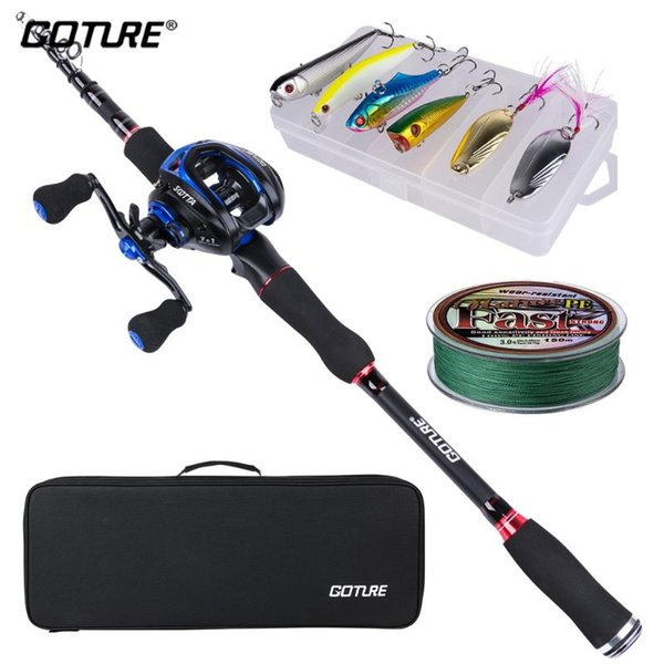 best selling Rod Reel Combo Goture Spinning  Casting Fishing With Set Line Lure Bag Tackle