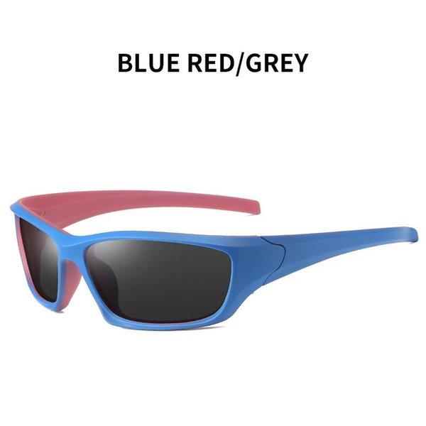 Vermelho azul - cinza
