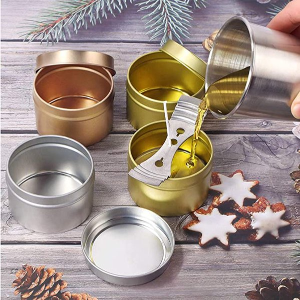 top popular Candle Tin Cans with Lids Teal for Candles, Arts & Crafts Storage and More 2021