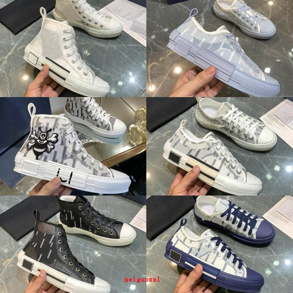best selling New Designer Sneakers B23 Oblique High Low Top Mens Sneaker B24 Technical Canvas Leather Women Casual Shoes bee Top Quality Luxurys Trainers