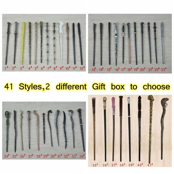 best selling 41 Styles Magic Wand Collectable PVC Resin Magical Wands Creative Cosplay Game Collection Toys CYZ3184