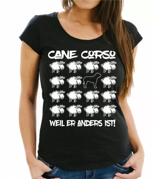Cane Corso Womens T-Shirt Black Sheep Women Dog Dogs Fashion