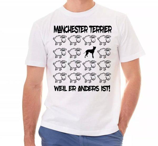 Mach Ester Terrier Unisex T-Shirt Black Sheep Men Dog Dog Motif