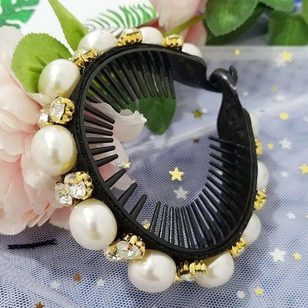 Blanc - perle comme des cheveux rayés