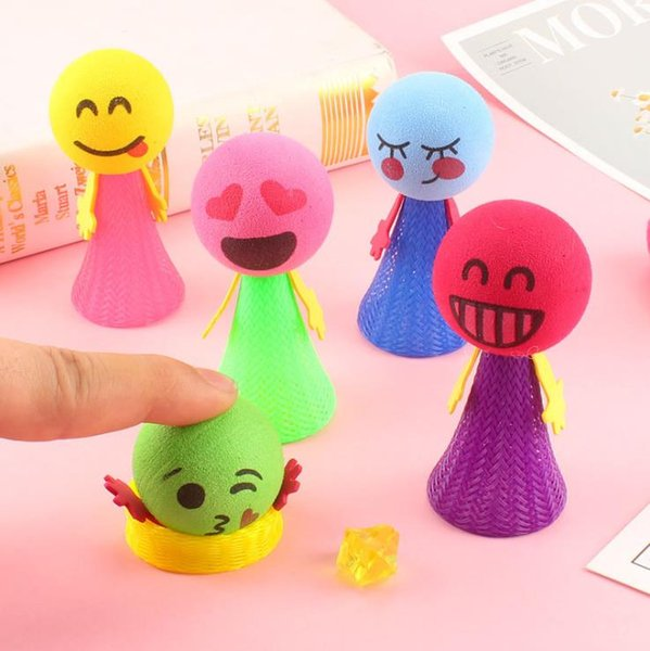 best selling Large bounce elf Novelty Games eva spring man bouncing villain jumping men children gift doll toy wholesale