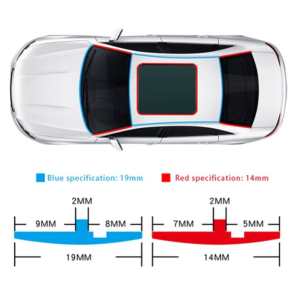 Fillers 2m/8m Car Window Rubber Seal SEAMETAL Rubber Seals Roof Strip Universal Roof Windshield Protector Seal Cars Sealing Accessories