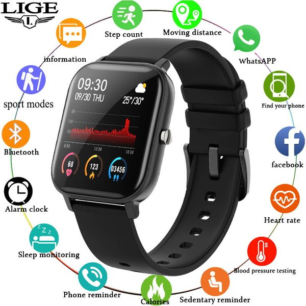 best selling 2021 P8 Smart Watch Men Women smartwatch Sports Fitness Tracker IPX7 Waterproof LED Full Touch Screen suitable For Android ios