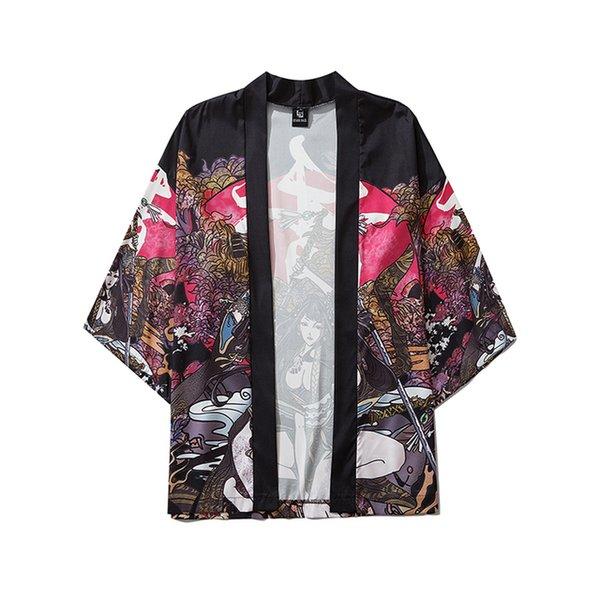 Montón Asia Pacífico Islas Ropa Bebízi Belleza Samurai Tradicional Kimono Japonés Anime Ropa Cardigan Cosplay Hombres Mujeres ...
