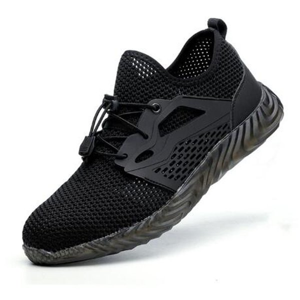 2020 JACKSHIBO men work running shoes summer breathable sports shoes steel toe anti fracture construction sneakers size 40-45
