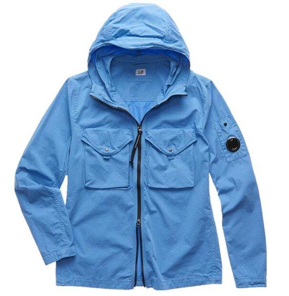 best selling Metal nylon one glasses GOGGLE men jacket casual CP hoodies outdoor windbreak black army green size M-XXL