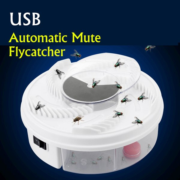New Usb Electric Fly Trap Anti Fly Killer Traps Automatic Flycatcher Device Insect Pest Reject Control Catcher Fly Trap Catching