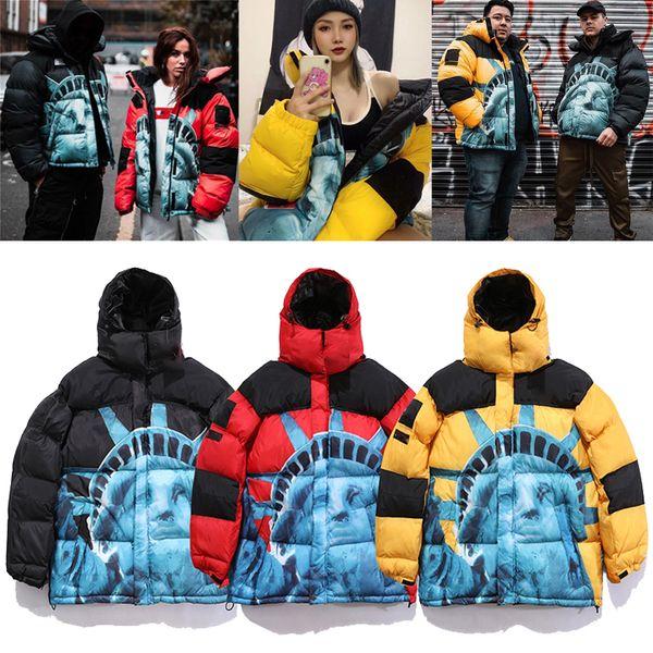 best selling Women Mens Down Parkas Winter Outerwear Casual Jacket Warm Hooded Unisex Coat Outwear Hip Hop Men Streetwear X6102