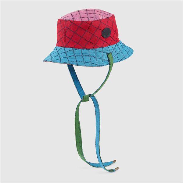 Color Contrast Casquette Men Women Multicolour Resersible Bucket Hat Womens Mens Designers Bucket Hats 2021 Fashion Designers Caps Hats Mens
