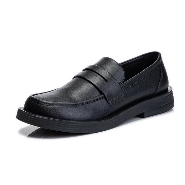Genuine Leather Loafers Shoes Women Slip On Black Casual Sneakers 2021 Spring New Fashion Shoes for Women Spring Ol Loafers