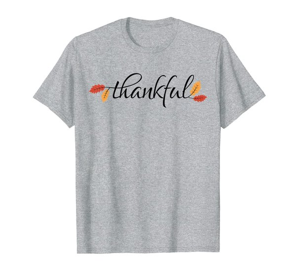 Thanksgiving T Shirt Men Women Autumn Fall Leaves Thankful T-Shirt