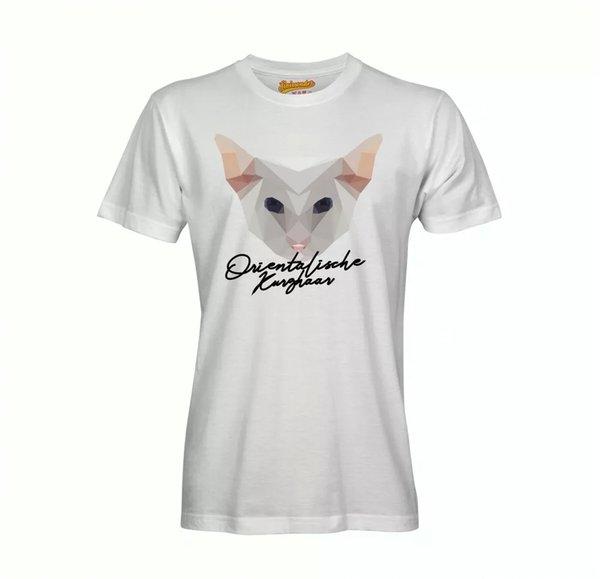 Oriental Short Hair T-Shirt Polygon Cat by siviwonder
