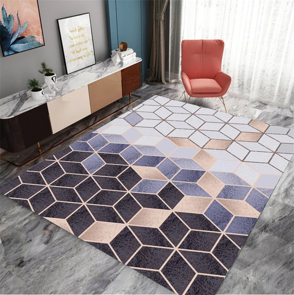 Eovna Nordic3D Printing Carpet Washable Area Rugs Living Room Carpets Kitchen Anti-slip Rugs and Carpets for Home Living Room
