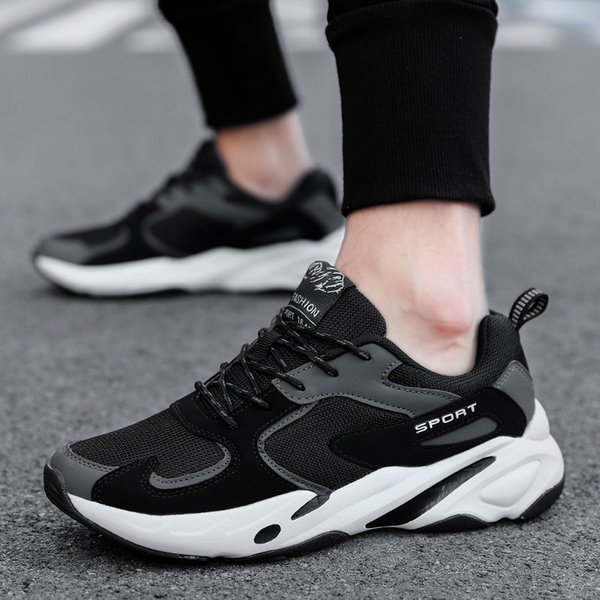 New Mens Shoes Lace-Up Fashion Breathable Men Casual Shoes Brand Men Sneakers Men FLats Fashion sports running trend mens shoes