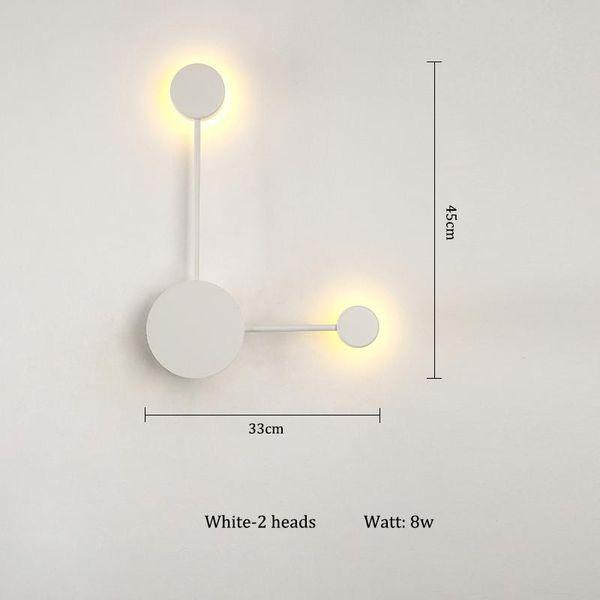Blanc-2 têtes Blanc chaud (2700-3500K)