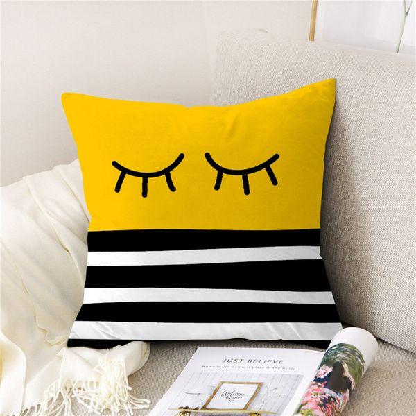 Peach skin sofa hug pillowcase throw pillowcase home sofa chair geometric cushion cover decorative pillowcase